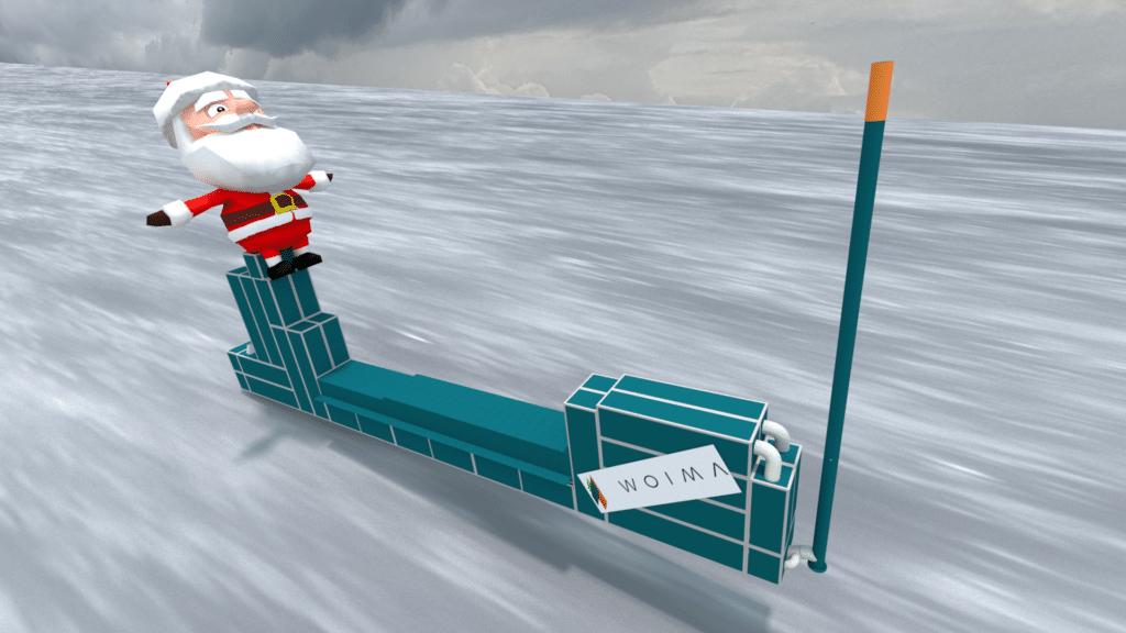 Santa claus with power plant WOIMA Corporation