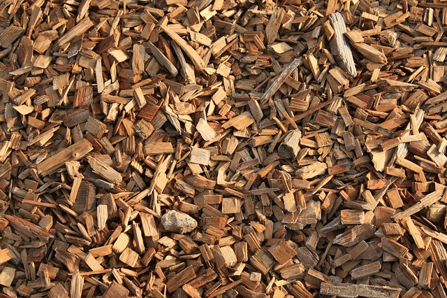 Wood chip pile, power and utility - WOIMA Corporation