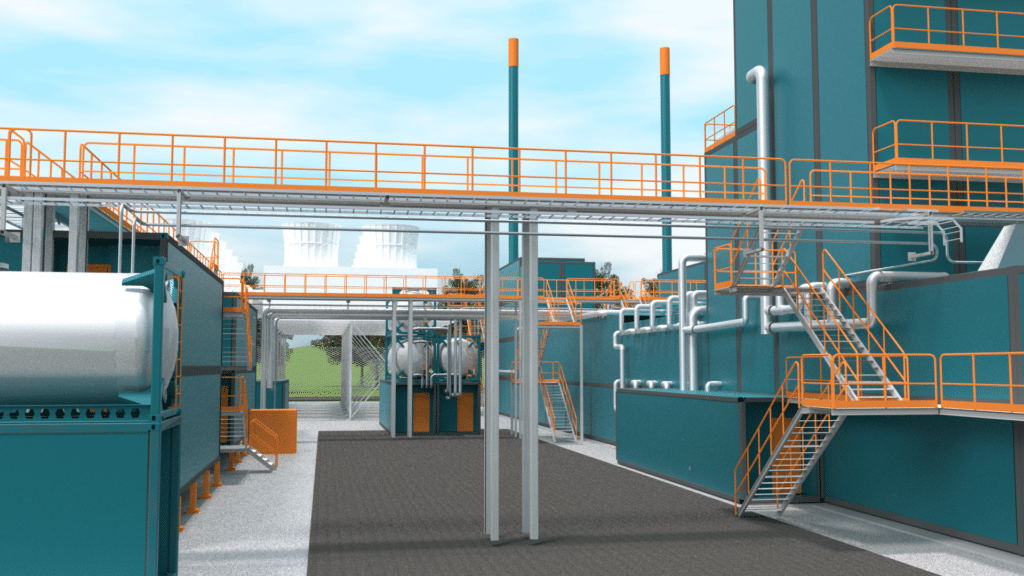 WOIMAline service platforms, catwalks and safety rails in power plant - WOIMA Corporation